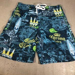 Corona extra pattern swim trunks beer size M 32